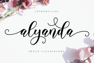 Print on Demand: Alyanda Script Script & Handwritten Font By NissaStudio