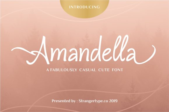 Print on Demand: Amandella Script & Handwritten Font By Strangertype
