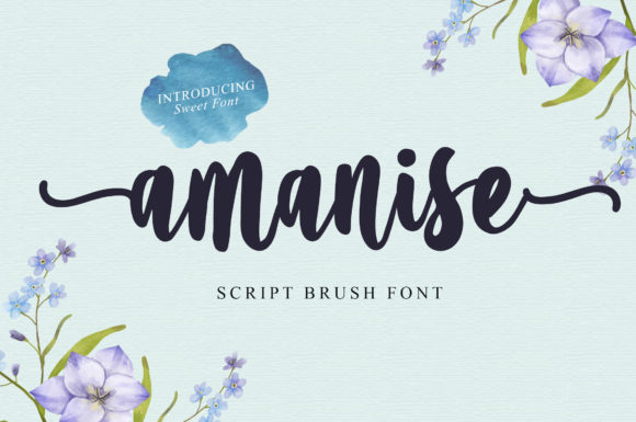 Print on Demand: Amanise Script & Handwritten Font By Typefar
