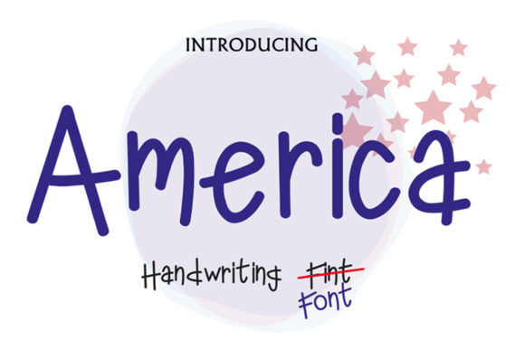 Print on Demand: America Display Font By ed.creative