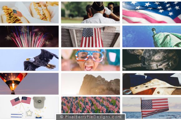 Print on Demand: American Patriotic Facebook Cover Bundle Graphic Graphic Templates By Pixel Berry Pie Designs - Image 2