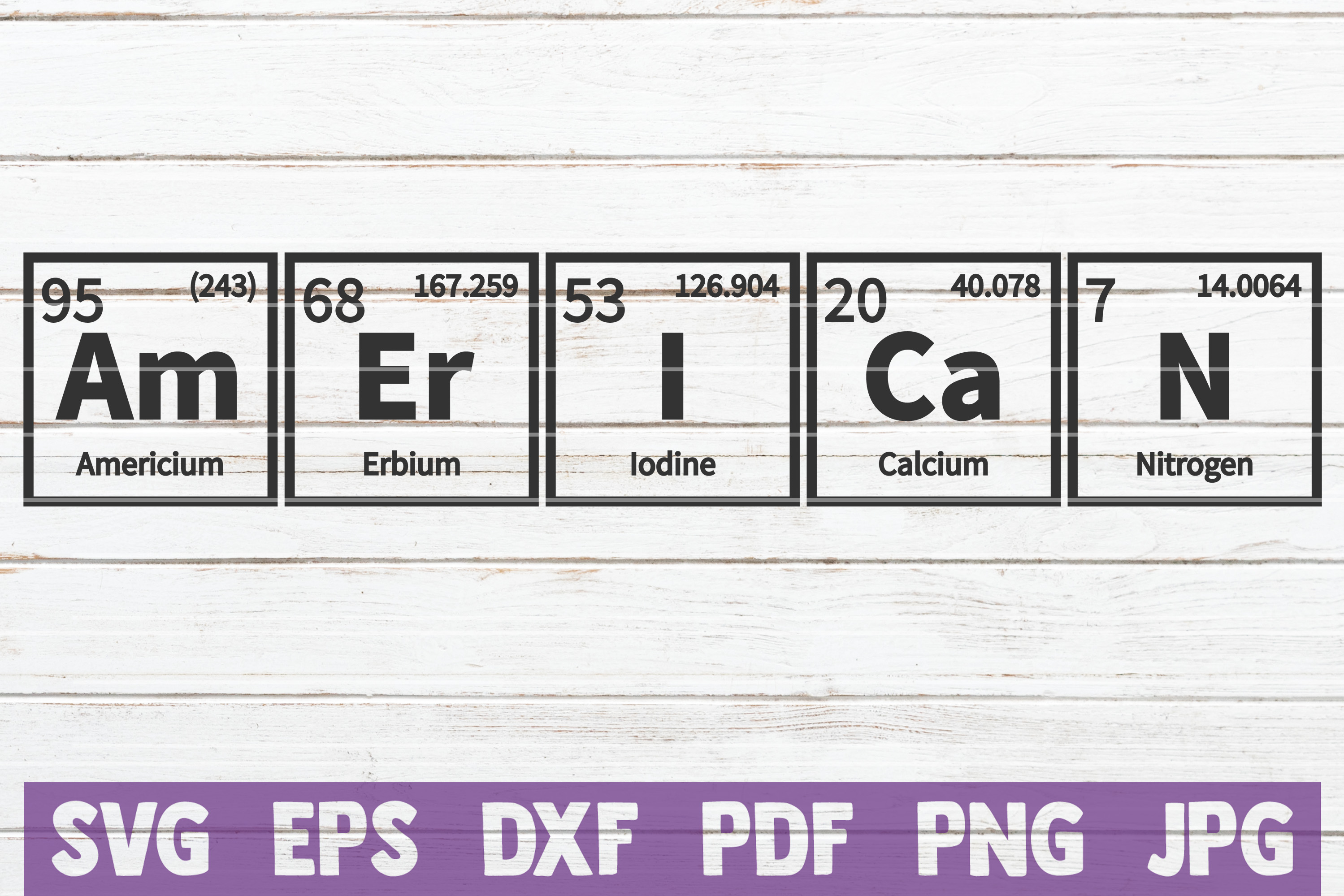American Periodic Table Svg Cut File Graphic By