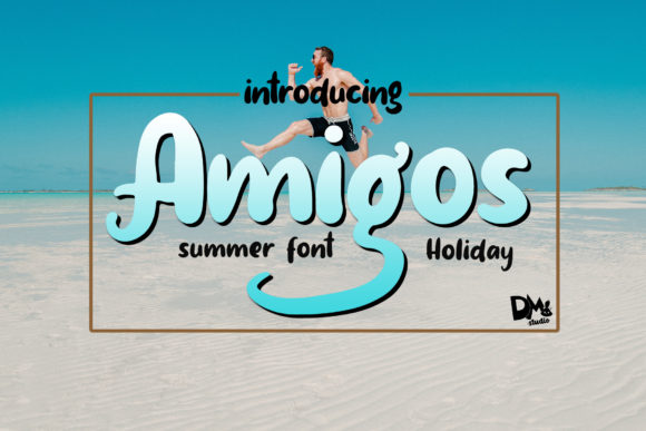 Print on Demand: Amigos Script & Handwritten Font By dmletter31