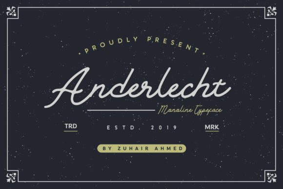 Print on Demand: Anderlecht Script & Handwritten Font By ZHR Creative