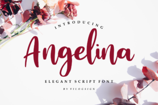 Print on Demand: Angelina Script & Handwritten Font By Vilogsign