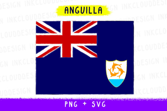 Anguilla USA, British World Country Flag Graphic By Inkclouddesign Image 1