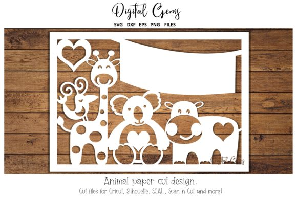Animal Paper Cut Design Graphic By Digital Gems Creative Fabrica