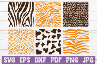 Animal Print Patterns Svg Cut Files Graphic By Mintymarshmallows