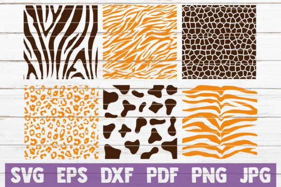 Animal Print Patterns SVG Cut Files Graphic Graphic Templates By MintyMarshmallows
