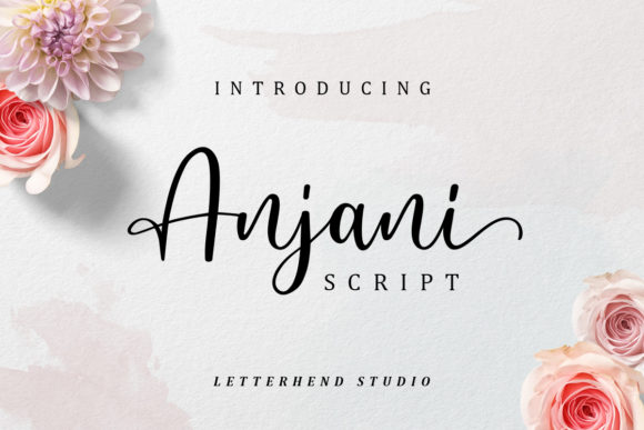 Print on Demand: Anjani Script Script & Handwritten Font By letterhend