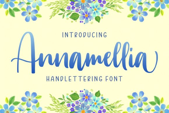 Print on Demand: Annamellia Script & Handwritten Font By goodjavastudio