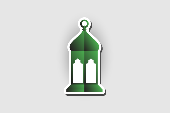 Download Free Arabic Lantern Vector Sticker Concept Graphic By Hartgraphic for Cricut Explore, Silhouette and other cutting machines.