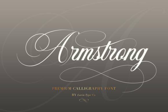 Print on Demand: Armstrong Script & Handwritten Font By Pasha Larin