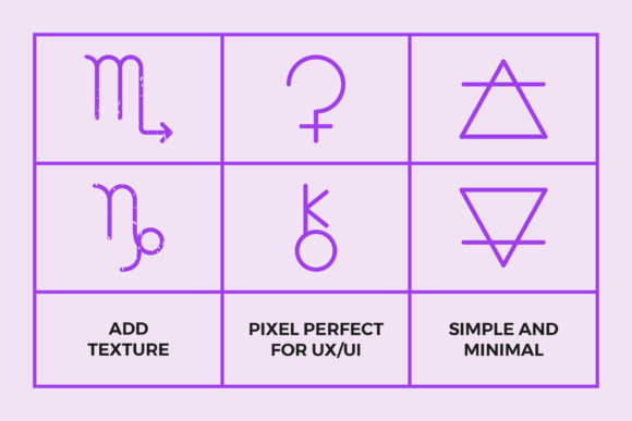 Astrology Symbols | Line Icon Pack Graphic By abstractocreate Image 3