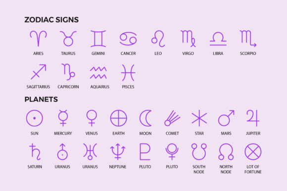 Astrology Symbols | Line Icon Pack Graphic By abstractocreate Image 4