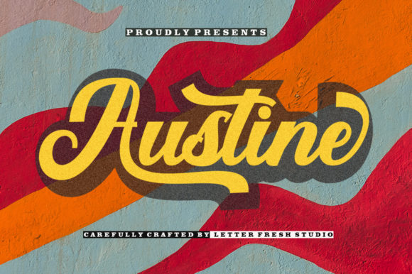 Print on Demand: Austine Script & Handwritten Font By letterfreshstudio