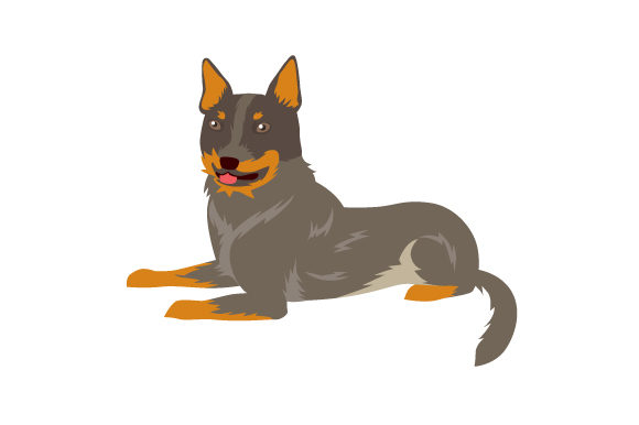 Australian Cattle Dog Breed Craft Design By Creative Fabrica Crafts