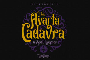 Avarta Cadavra Display Font By typealiens