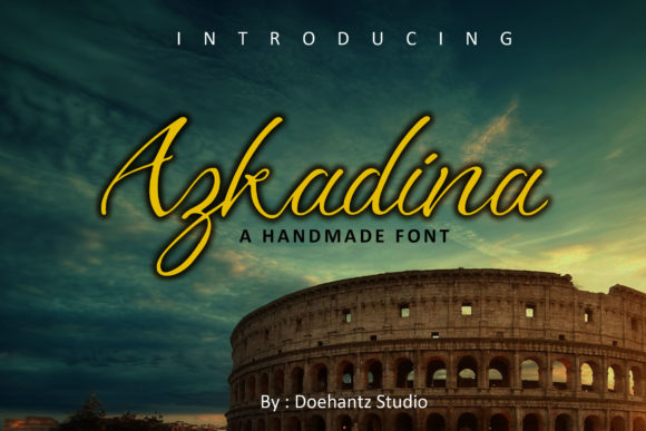 Print on Demand: Azkadina Script & Handwritten Font By Doehantz Studio