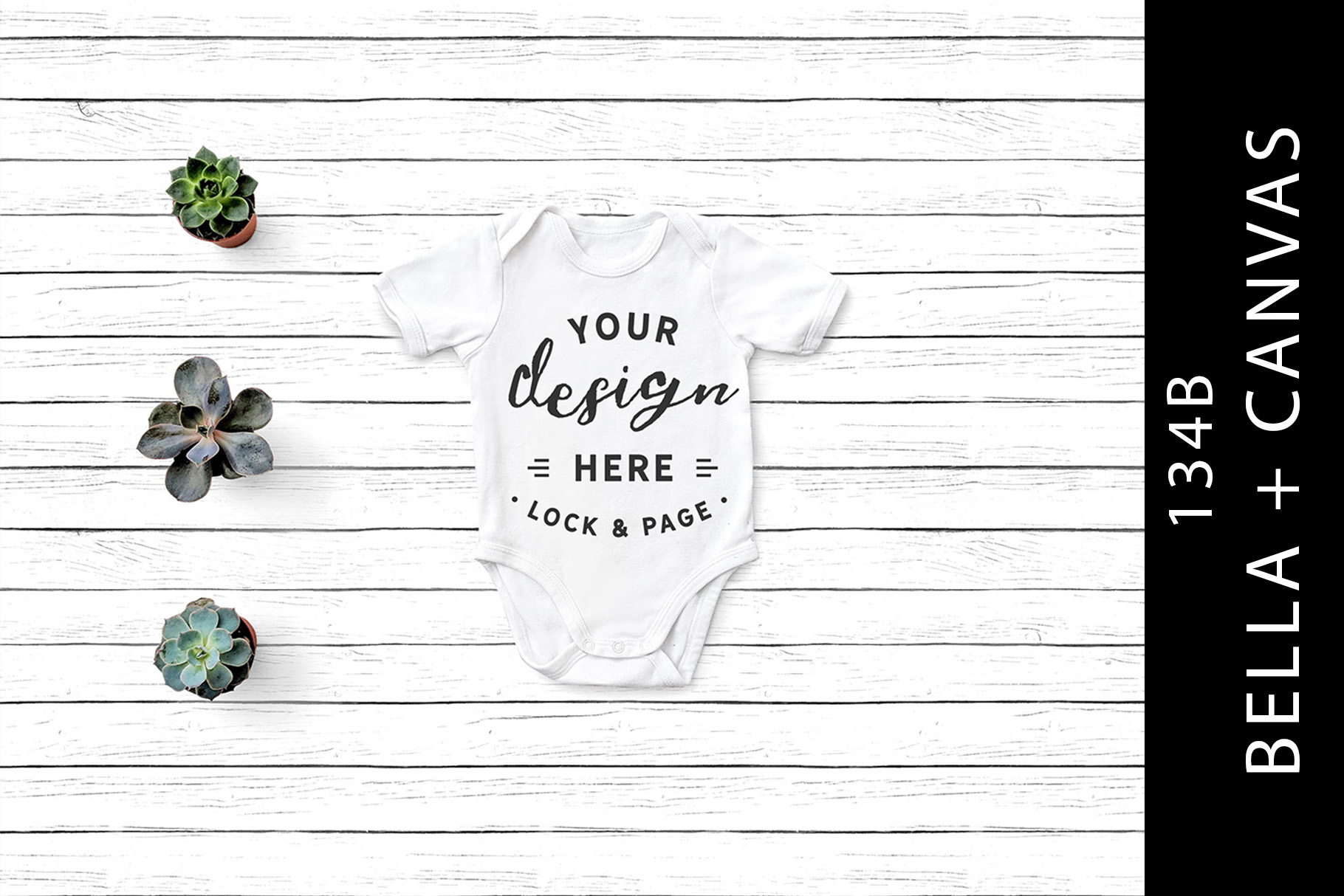 Download Free Baby Bella Canvas 134b One Piece Mockup Graphic By Lockandpage for Cricut Explore, Silhouette and other cutting machines.