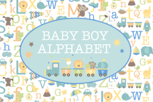 Print on Demand: Baby Boy Alphabet Graphic Illustrations By poppymoondesign
