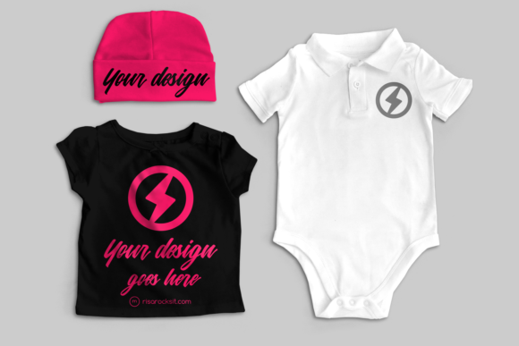 Baby Clothes Product Mock Up Graphic Product Mockups By RisaRocksIt