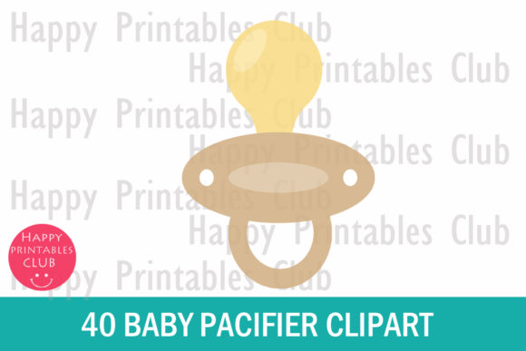 picture about Baby Printables referred to as Kid Pacifier Clipart- Vibrant Pacifier