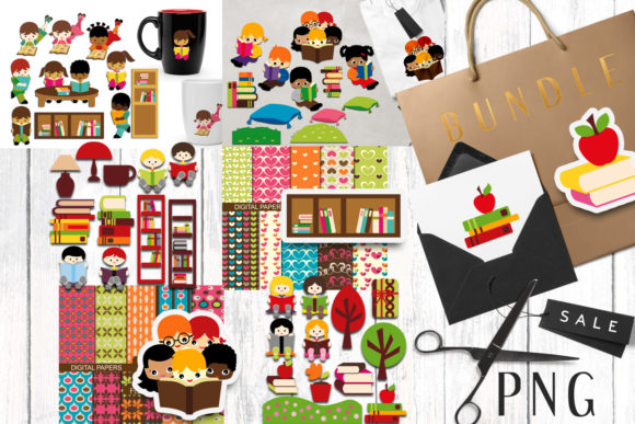 Print on Demand: Back to School Bundle Graphic Illustrations By Revidevi