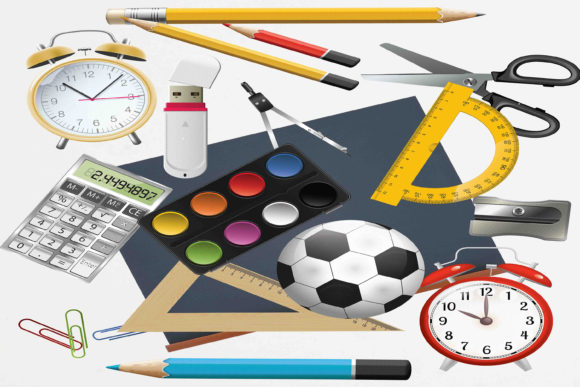 Print on Demand: Back to School Clipart Graphic Illustrations By retrowalldecor - Image 1