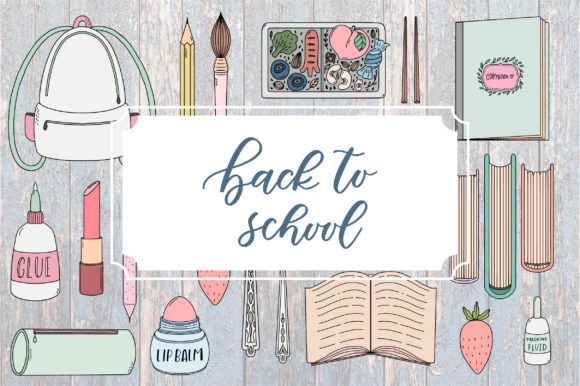 Back to School. Cute Doodle Pack. Graphic Illustrations By Sentimental Postman