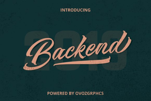 Print on Demand: Backend Script & Handwritten Font By ovoz.graphics