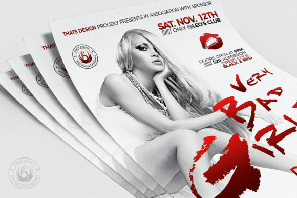 Bad Girls Flyer Template Graphic By ThatsDesignStore Image 5