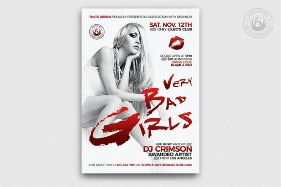 Bad Girls Flyer Template Graphic By ThatsDesignStore Image 1