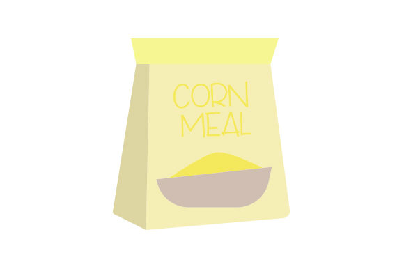 Bag of Corn Meal Kitchen Craft Cut File By Creative Fabrica Crafts