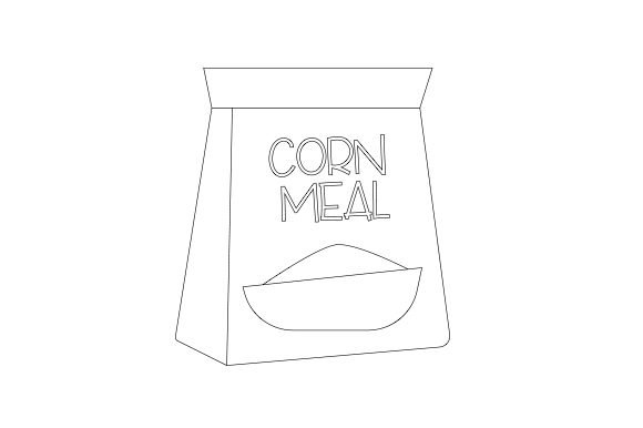 Bag of Corn Meal Kitchen Craft Cut File By Creative Fabrica Crafts - Image 2
