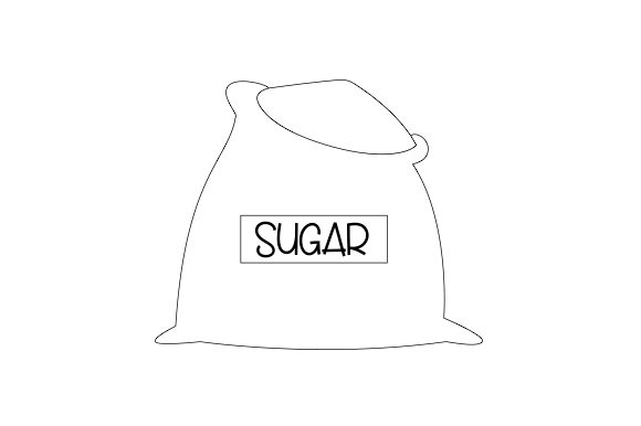 Bag of Sugar Kitchen Craft Cut File By Creative Fabrica Crafts - Image 2