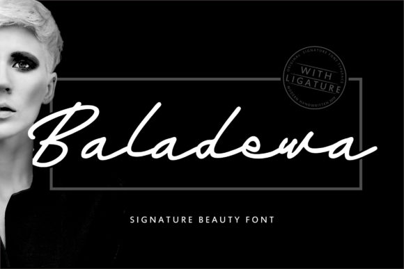 Print on Demand: Baladewa Script & Handwritten Font By Vunira
