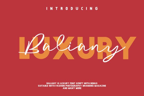Print on Demand: Baliany Script Script & Handwritten Font By ovoz.graphics