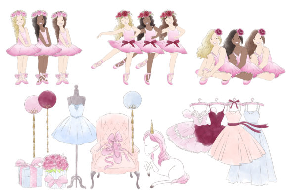 Download Free Ballerina Ballet Tutu Watercolor Clipart Graphic By Kabankova SVG Cut Files