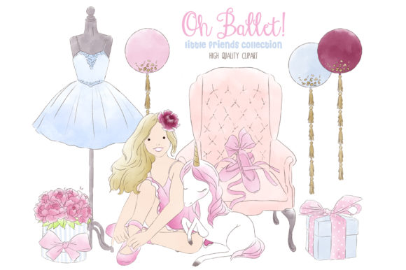 Download Free Ballerina Ballet Tutu Watercolor Clipart Graphic By Kabankova for Cricut Explore, Silhouette and other cutting machines.