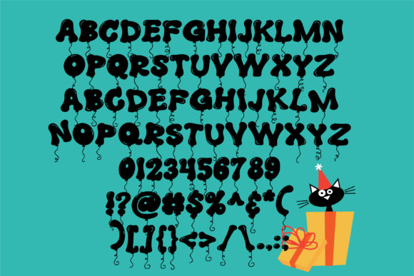 Print on Demand: Balloony Display Font By Illustration Ink - Image 2