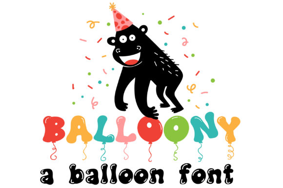 Print on Demand: Balloony Display Font By Illustration Ink