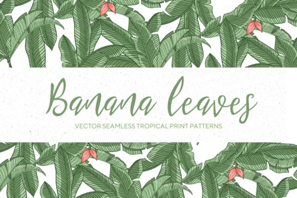 Print on Demand: Banana Leaves Seamless Pattern #1 Graphic Patterns By creativemedialab