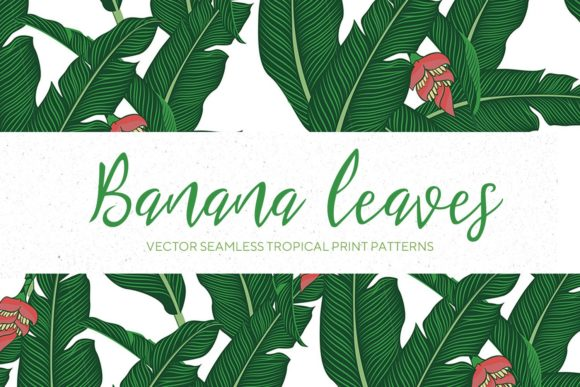 Banana Leaves Seamless Pattern #2 Graphic By creativemedialab