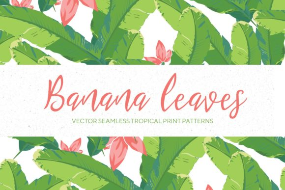 Banana Leaves Seamless Pattern #3 Graphic Patterns By creativemedialab