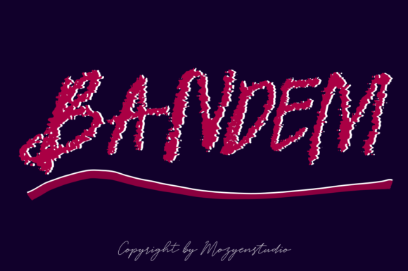 Print on Demand: Bandem Script & Handwritten Font By mozyenstudio