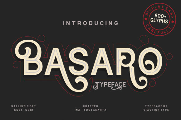 Print on Demand: Basaro Display Font By Viaction Type.Co