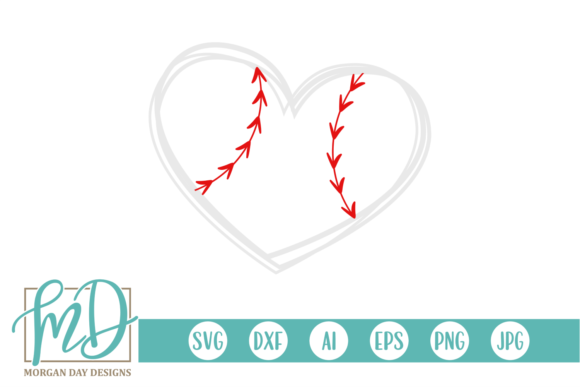 Download Free Baseball Heart Graphic By Morgan Day Designs Creative Fabrica for Cricut Explore, Silhouette and other cutting machines.