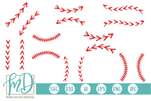 Download Free Baseball Laces Graphic By Morgan Day Designs Creative Fabrica for Cricut Explore, Silhouette and other cutting machines.