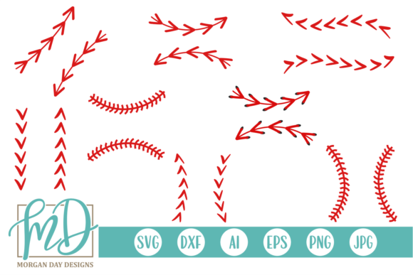 Print on Demand: Baseball Laces  Graphic Crafts By Morgan Day Designs